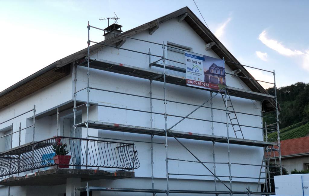 chantier isolation murs exterieurs par watiso a 1 euro